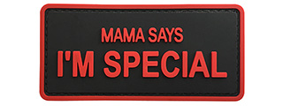 "G-Force ""Mama Says I'm Special"" PVC Morale Patch (BLACK / RED)"