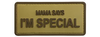 "G-Force ""Mama Says I'm Special"" PVC Morale Patch (TAN)"