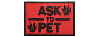 "G-Force ""Ask To Pet"" PVC Morale Patch (RED)"