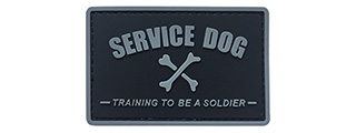 G-Force Service Dog Training to Be a Soldier PVC Morale Patch (BLACK)