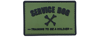 G-Force Service Dog Training to Be a Soldier PVC Morale Patch (OLIVE GREEN)