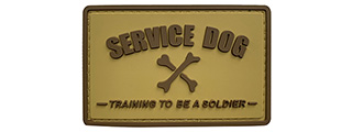 G-Force Service Dog Training to Be a Soldier PVC Morale Patch (TAN)