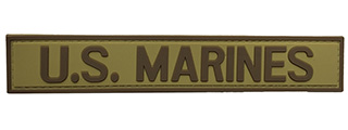 G-Force U.S. Marines PVC Morale Patch (TAN/BROWN)