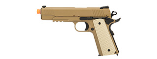 WE Tech Kimber Style 1911 Gas Blowback Airsoft Pistol (TAN)