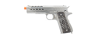 WE Tech 1911 Hex Cut Gen. 2 Gas Blowback Airsoft Pistol (SILVER)