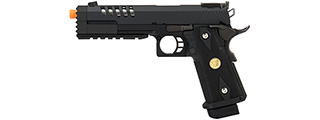 "WE Tech 1911 Hi-Capa Custom ""Hyper Strike"" Gas Blowback Airsoft Pistol (BLACK)"