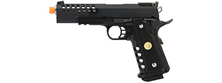 "WE Tech 1911 5.1 Hi-Capa Hyper Speed ""Skeletor"" Gas Blowback Airsoft Pistol (BLACK)"