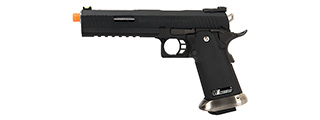 WE Tech 1911 Hi-Capa T-Rex Competition Gas Blowback Airsoft Pistol w/ Sight Mount & Top Ports [Tibetan Version] (BLACK / SILVER)