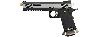 WE Tech 1911 Hi-Capa T-Rex Competition Gas Blowback Airsoft Pistol w/ Sight Mount (TWO TONE / SILVER)