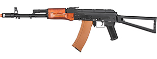 Double Bell AKS-74 Airsoft AEG Rifle w/ Wood Furniture (BLACK)