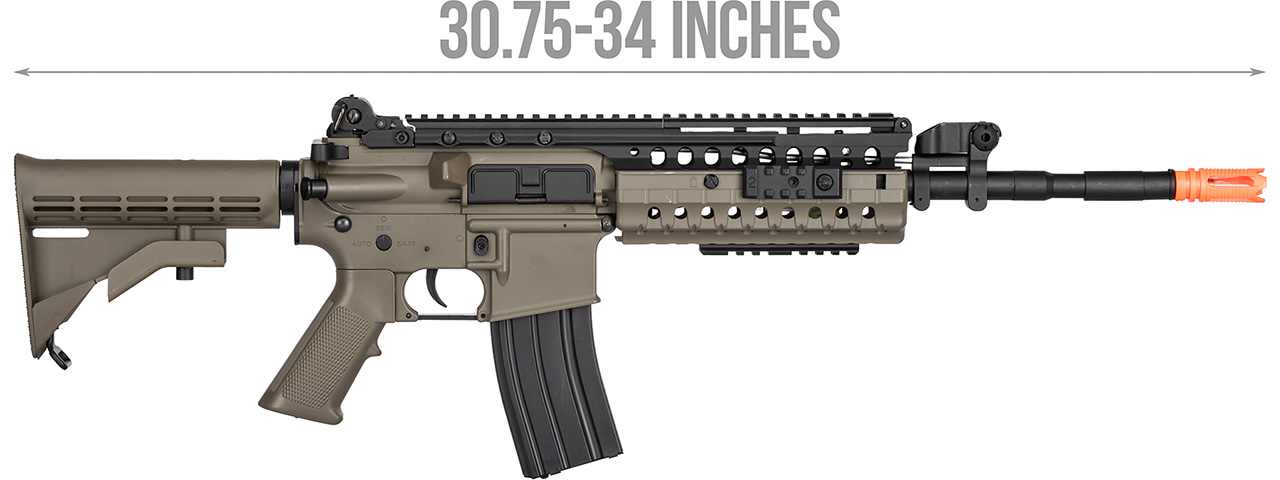 Double Bell M4 Tactical-System AEG Airsoft Rifle w/ Metal Gearbox [Polymer Body] (DARK EARTH)
