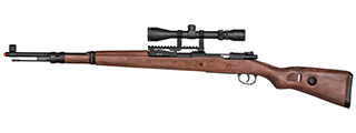 Double Bell WWII Kar 98k Bolt Action Spring Airsoft Rifle (REAL WOOD)