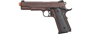 Double Bell M1911 Gas Blowback Airsoft Pistol [Polymer] (CRIMSON BROWN)