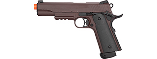 Double Bell M1911 CO2 Blowback Airsoft Pistol [Metal] (CRIMSON BROWN)