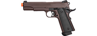 Double Bell M1911 CO2 Blowback Airsoft Pistol [Polymer] (CRIMSON BROWN)