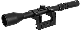Double Bell 3-9X40 Rifle Scope for Kar 98k WWII Rifle (BLACK)