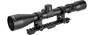 Double Bell 3-7X28 Rifle Scope w/ Mount for Kar 98k WWII Rifle (BLACK)