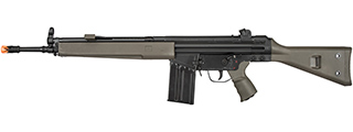 LCT LC-3A3 Full Size AEG Airsoft Rifle w/ Wide Handguard (BLACK / GREEN)