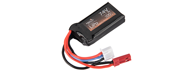 Lancer Tactical Airsoft 7.4V LiPo 300mAh Compact 25C Battery for HPA