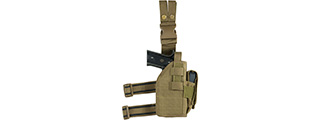 VISM by NcSTAR DROP LEG UNIVERSAL HOLSTER, TAN