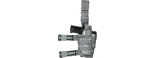 VISM by NcSTAR DROP LEG TACTICAL HOLSTER, DIGITAL CAMO