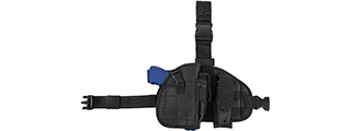 VISM by NcSTAR DROP LEG HOLSTER, PANEL, MAG POUCH (BLACK)