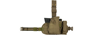 VISM by NcSTAR DROP LEG HOLSTER, PANEL, MAG POUCH (TAN)