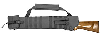 VISM by NcSTAR TACTICAL SHOTGUN SCABBARD, URBAN GRAY