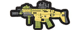 3D RIFLE PVC PATCH (YELLOW/GREEN/GRAY)