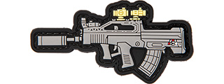 3D RIFLE PVC PATCH (GRAY)