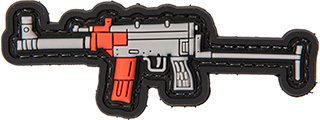 3D RIFLE PVC PATCH (GRAY/RED)