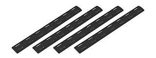 Ranger Armory 7-Section M-Lok Narrow Rail Panels, 4pc (Black)