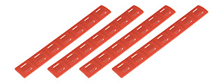 Ranger Armory 7-Section M-Lok Narrow Rail Panels, 4pc (Red)