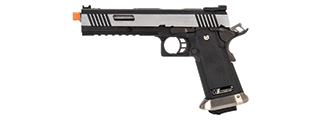 "WE-Tech Hi-Capa 6"" IREX Competition Full Auto Gas Blowback Airsoft Pistol (Black / Silver)"