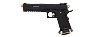 "WE-Tech Hi-Capa 6"" IREX Full Auto Competition GBB Airsoft Pistol (Black with Markings)"