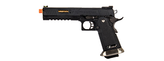 "WE-Tech Hi-Capa 6"" IREX Full Auto Competition Pistol (Black / Gold Barrel / With Markings)"