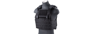 Lancer Tactical Vest with Molle Webbing and Detachable Buckles (Color: Black)
