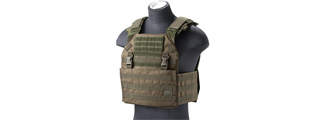 Lancer Tactical Vest with Molle Webbing and Detachable Buckles (Color: OD Green)