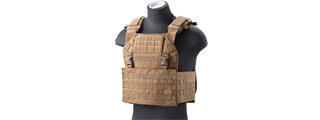 Lancer Tactical Vest with Molle Webbing and Detachable Buckles (Color: Tan)