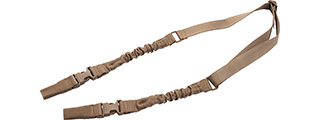 Lancer Tactical 2-Point Bungee Sling with Dual Buckles (Color: Tan)