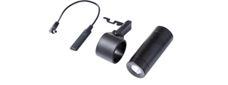 Modify PP-2K Flashlight Set with Quick Release Ring Mount and Pressure Switch (Color: Black)