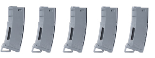 Lancer Tactical 130 Round High Speed Mid-Cap Magazine Pack of 5 (Gray)
