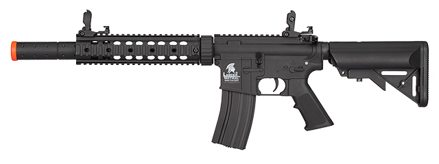 Lancer Tactical Nylon Polymer M4 Gen 2 SD AEG Airsoft Rifle [LOW FPS] (Black)