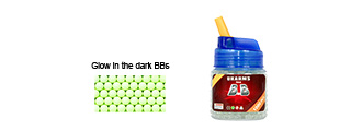 UKARMS BB1000L Glow In The Dark 0.12g 6mm BBs, 1000 Rounds per Bottle