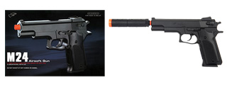 Double Eagle M24 Large High Performance Spring Pistol w/Silencer