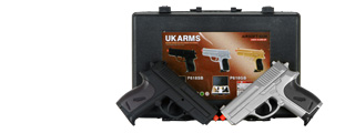 UKARMS P618SB 2 Spring Pistols in Combo Pack ( Black and Silver )