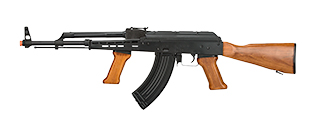 LCT-LCKM63-AEG LCT Real Wood Full Metal AK47 w/ Foregrip (Black / Wood)