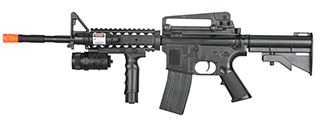 P1158B SPRING POWERED M16 AIRSOFT RIFLE (BLACK)