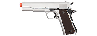 Double Bell M1911 GBB Airsoft Pistol Type 1 - Low Velocity (Silver)