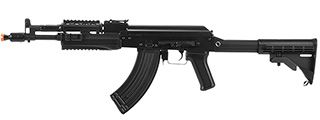 LCT Airsoft AK-104 Assault Rifle AEG w/ Folding Stock (Black)